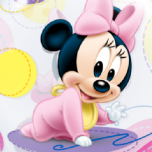 "Baby Minnie Mouse Bubble Balloon (22"") 1pc"